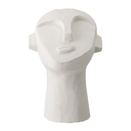 Bloomingville - Deco Abstract Face Ornament - White