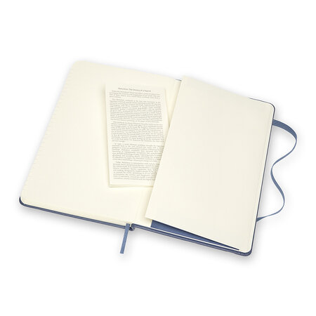 Moleskine - Classic Leather Notebook - Forget Me Not Blue
