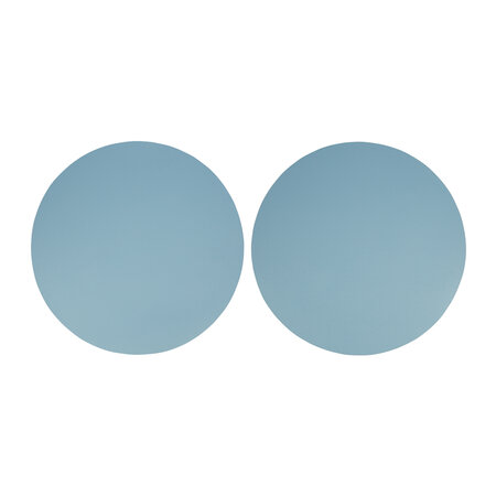 Essentials - Double Sided Leather Placemat - Set of 2 - Stone Blue