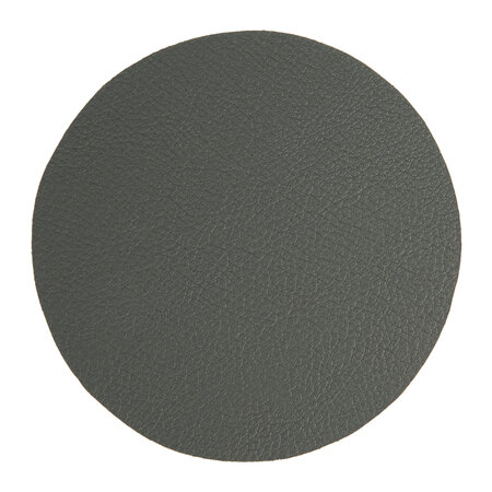 Essentials - Double Sided Vegan Leather Coasters - Set of 4 - Grey