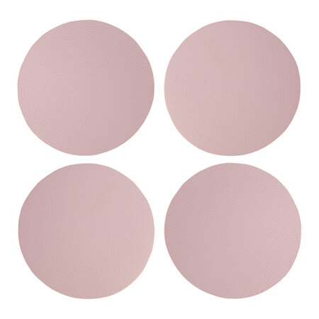 Essentials - Double Sided Vegan Leather Coasters - Set of 4 - Mauve