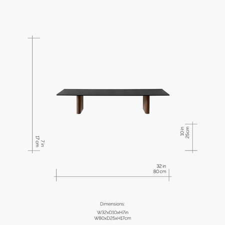 &Tradition - Column Rectangular Shelf - JA2 - Walnut