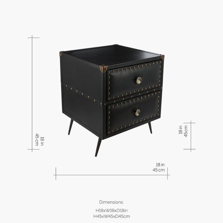 A by AMARA - Leather Studded Drawers - Black