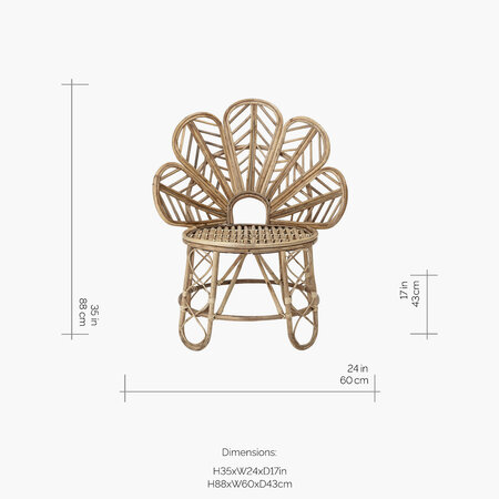 Bloomingville - Emmy Cane Chair - Natural