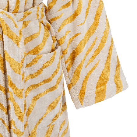 Carrara - Animalier Shawl Bathrobe - Gold