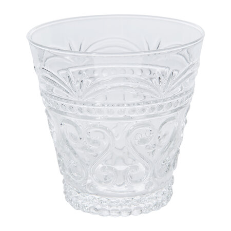 Global Explorer - Ornate Glass Tumblers - Set of 4 - Clear