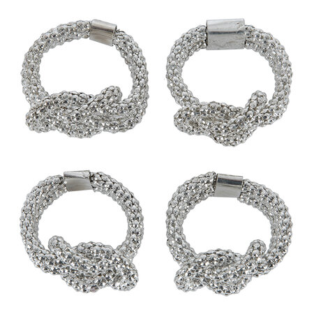 Luxe - Silver Knot Napkin Ring - Set of 4