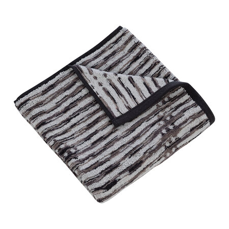 DKNY - Dot Chevron Towel - Charcoal - Bath Towel