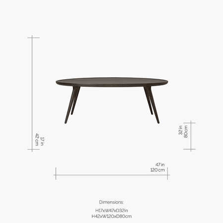 Mater - Accent Oval Lounge Table - Sirka Grey