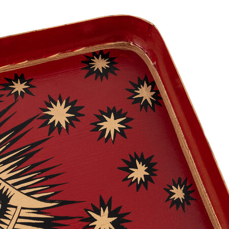 Les Ottomans - AMARA Exclusive Iron Eye Tray - Red