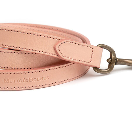Mutts & Hounds - Rose Full Leather Lead - Wide