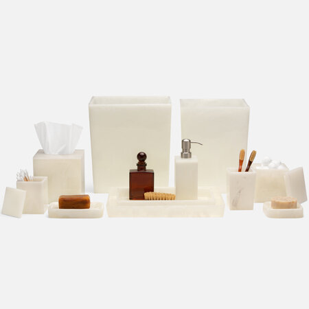 Pigeon and Poodle - Abiko Tissue Box - Pearl White