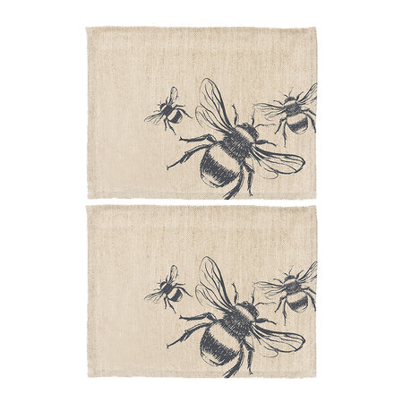 The Just Slate Company - Bee Linen Placemats - Set of 2
