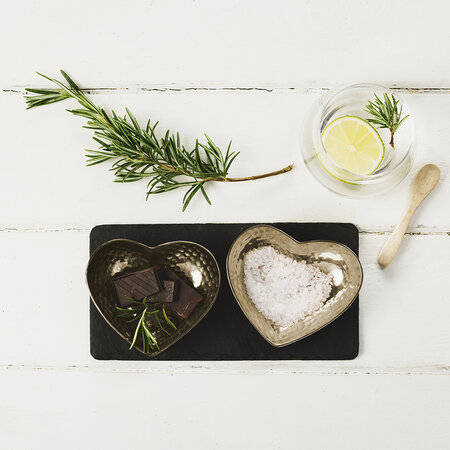 The Just Slate Company - Gold Heart Serving Set