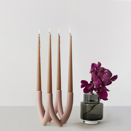 Ro collection - Chandelier Candle Holder - Rose Pink