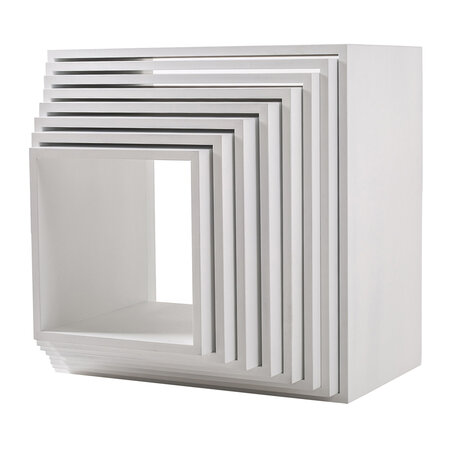 Seletti - Assemblage 888 Lacquered Wooden Modules - White