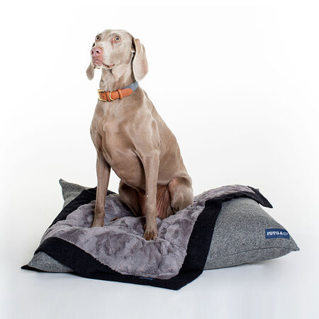 Pippa & Co - Classic Dog Blanket - Charcoal/Grey Fur - Small