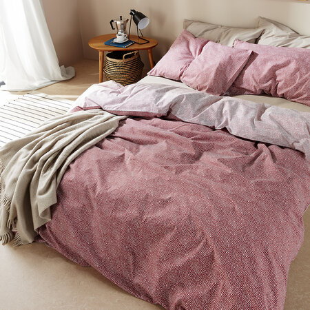 Christy - Bethany Duvet Set - Pomegranate - Super King