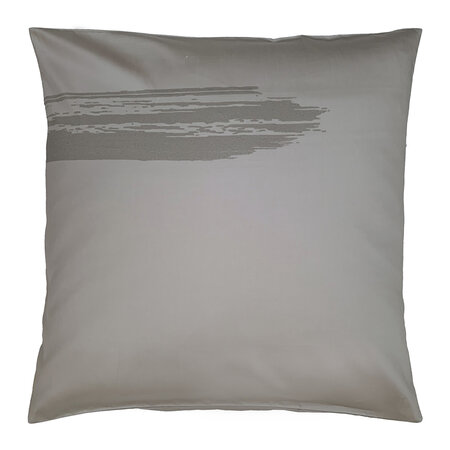 André Fu Living - Artisan Brush Pair Of Pillowcases - Gray On Beige - 65x65cm