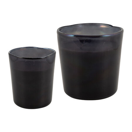 Luxe - Black Spectrum Glass Scented Candle - Small