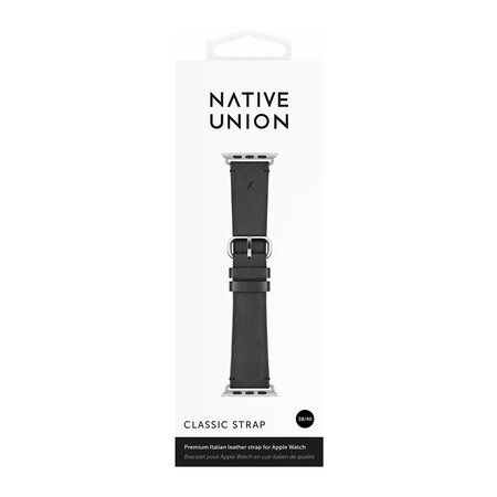 Native Union - Bracelet en Cuir Apple Watch - Noir - 40mm