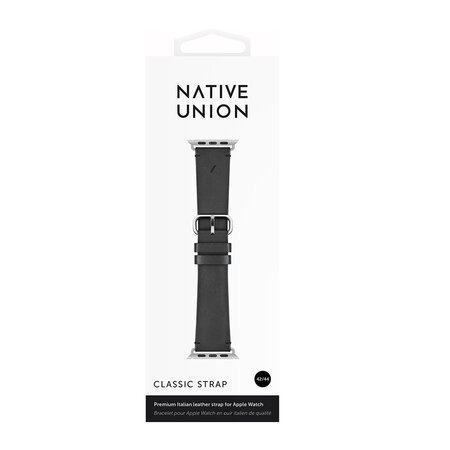 Native Union - Apple Watch Leather Strap - 44mm - Black