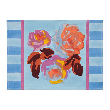 Lisa Corti - Bunch Of Roses Placemat - Blue - Set of 2