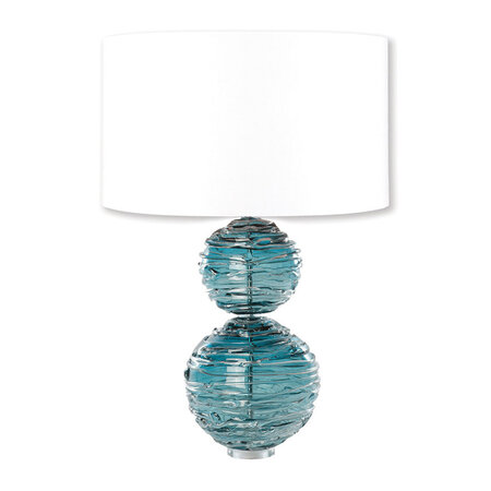 William Yeoward - Alfie Crystal Table Lamp - Turquoise - Small