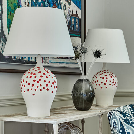 William Yeoward - Angelica Table Lamp - Rouge