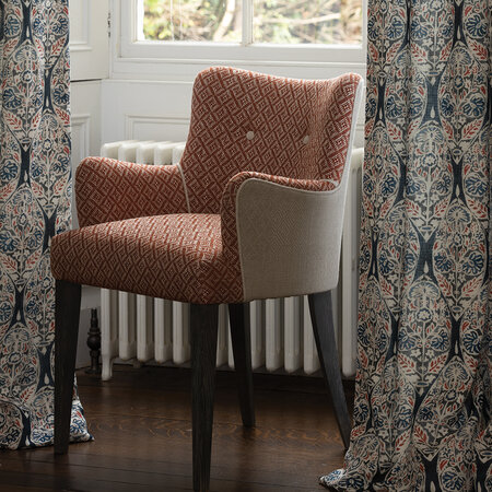 William Yeoward - Atworth Carver Side Chair - Natural/Orange