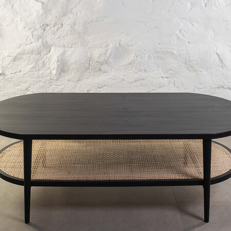 Kam Ce Kam - Aaram Coffee Table - Black Ash