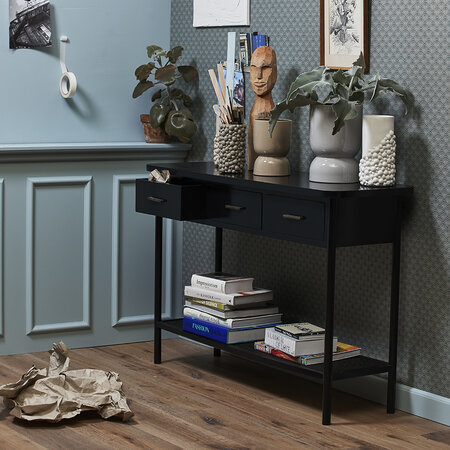 Nordal - Arda Console Table - Black