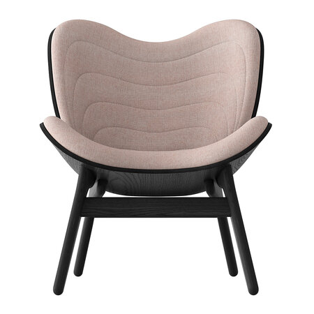 UMAGE - A Conversation Piece Lounge Chair - Black - Dusty Rose