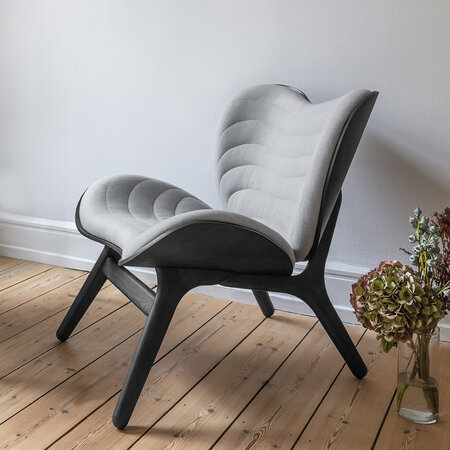 UMAGE - A Conversation Piece Lounge Chair - Black - Silver Grey