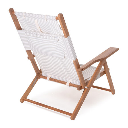 Business & Pleasure Co - The Tommy Chair - Laurens Sage Stripe