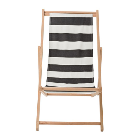 Bloomingville - Deck Chair - Black Cotton