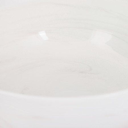 Swirl Marble by Blisshome - Marble Salad Bowl - Pink