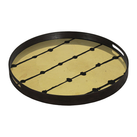 Ethnicraft - Brown Dots Glass Tray