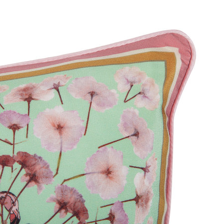 Silken Favours - Flamingo Floral Pillow - 55x55cm