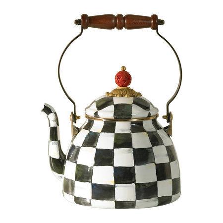 MacKenzie-Childs - Courtly Check Enamel Tea Kettle - Small