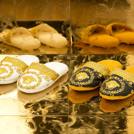 Versace - Barocco&Robe Slippers - Gold/Black