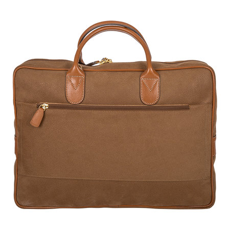 Bric's - Life Briefcase with Large Handle - Camel