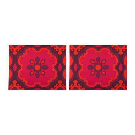 Images d'Orient - Set of 2 Rectangular Placemats - Sejjadeh Ruby