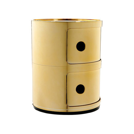 Kartell - Componibili Storage Unit - Gold - Small