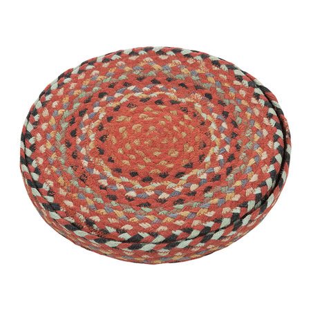 The Braided Rug Company - Round Placemats Set of 6 - Chili