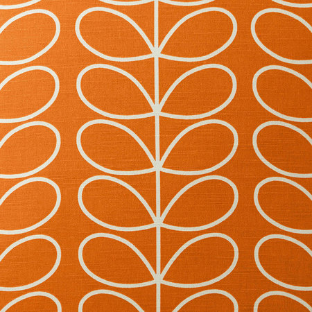 Orla Kiely - Small Linear Stem Reversible Cushion - 50x50cm - Persimmon