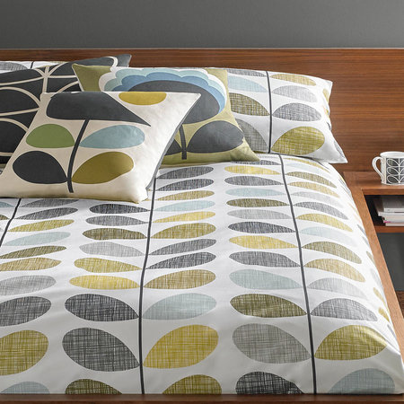 Orla Kiely - Scribble Stem Quilt Cover - Seagrass - King