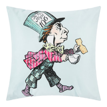 Mrs Moore's Vintage Store - Alice In Wonderland Cushion - Mad Hatter