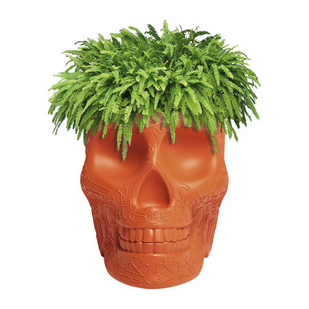 Qeeboo - Mexico Skull Small Planter - Terracotta
