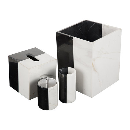 Jonathan Adler - Canaan Canister - Black/White Marble